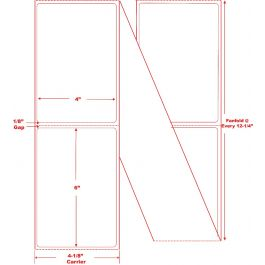 """Free Shipping 2 Stack//Case Thermal Transfer Fanfold Labels 4/"""" x 6/"""" 2000//Stack"""