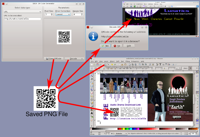 Creating and Using Barcodes with Free Software